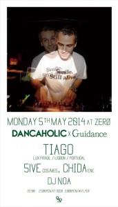 DANCAHOLIC x GUIDANCE feat. TIAGO 2014/05/05(MON) at ZERO青山