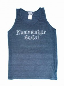 """14SS KUSTOMSTYLE KSTP1410CH """"FLORAL"""" COTTON TANK TOP"""
