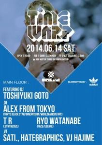 TIMEWARP - 2014.06.14 (SAT) at 表参道ORIGAMI
