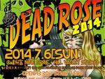 DEAD ROSE 2014 – 2014.07.06(sun) at 新宿NINE SPICE / 新宿HILL VALLEY STUDIO 2会場同時開催
