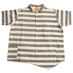 NATAL DESIGN - ボーダーワイドシャツ / BORDER WIDER SHIRTS