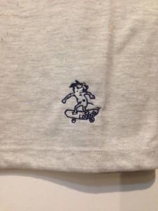 LOUDOG 刺繍ロゴ Vネック S/S Tee