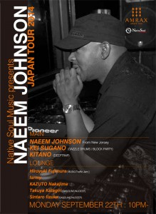 Native Soul Music presents NAEEM JOHNSON JAPAN TOUR 2014 - 2014.09.22(mon/祝前) at amate-raxi Shibuya