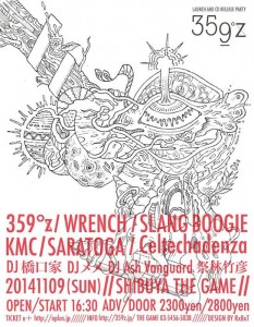 359°z LAUNCH and CD release party 2014.11.09(sun) at SHIBUYA THE GAME
