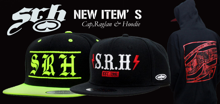 SRH - New Item's (Cap、Raglan & Hoodie)