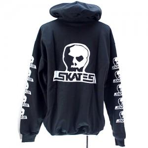 Skull Skates ロゴ ジッパーフードスウェット