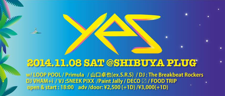 no entry 3rd Album release party 「yes」 2014.11.08(sat) at SHIBUYA PLUG