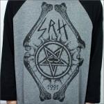 SRH ラグラン3/4Tシャツ PENTA グレーx袖黒