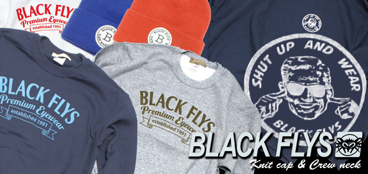 BBLACK FLYS - new item's (Knit cap & Crew neck )