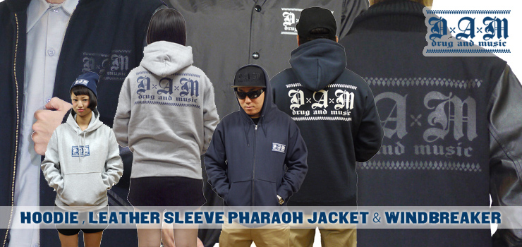 DxAxM - P/O,ZIP HOODIE、LEATHER SLEEVE PHARAOH JACKET & WINDBREAKER