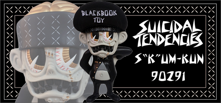 "Suicidal Tendencies x BlackBook Toy : S K UM-kun ""90291"" edition"