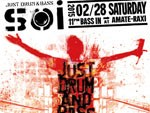 Soi  -JUST DRUM & BASS-  2015.02.28 SAT 11PM BASS IN at Shibuya AMATE-RAXI