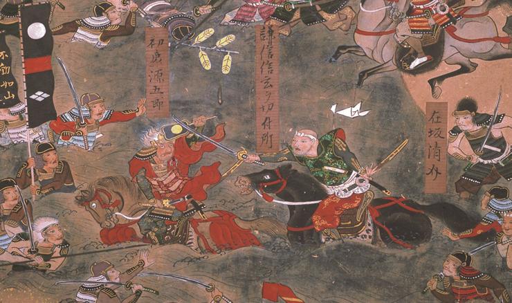 米沢本 川中島合戦図屏風 左隻(部分) 米沢市上杉博物館蔵 ※前期(11月23日~12月25日)展示