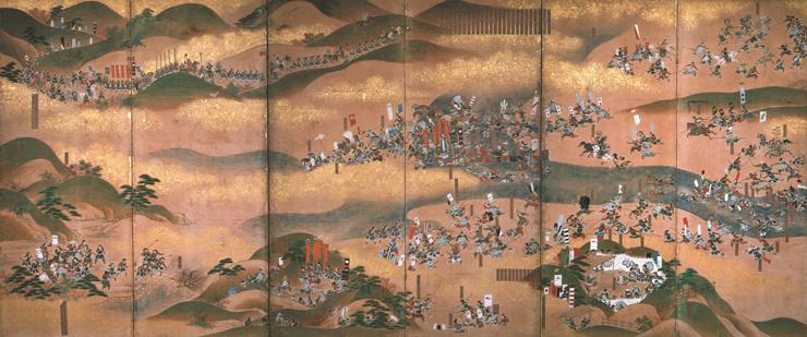米沢本 川中島合戦図屏風 左隻 米沢市上杉博物館蔵 ※前期(11月23日~12月25日)展示