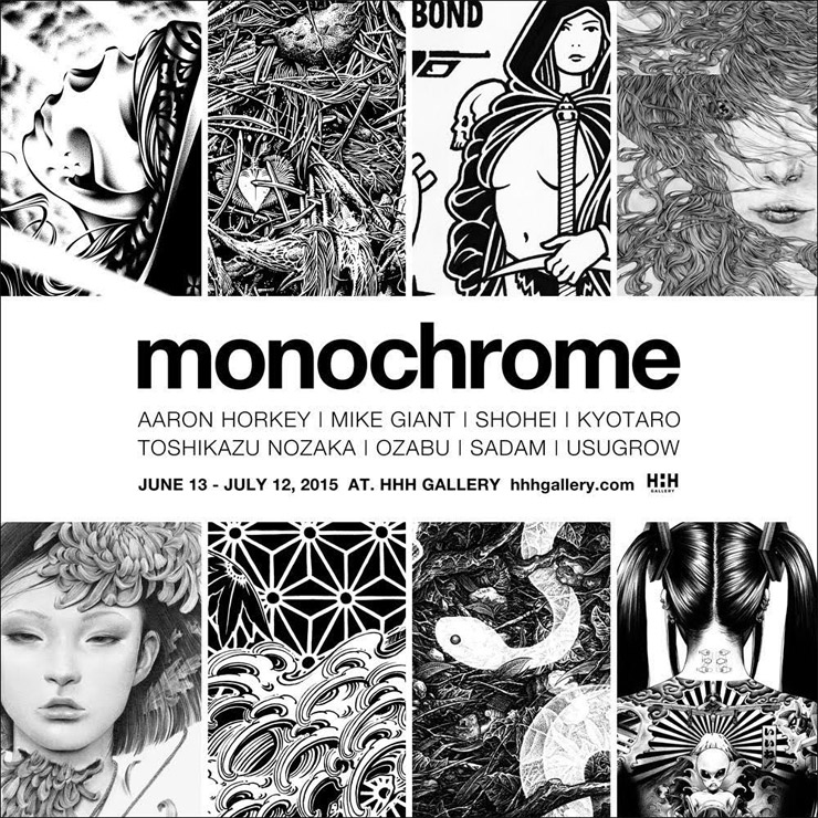 MONOCHROME group exhibition Curated by USUGROW 2015年 6月13日~7月12日 at HHH gallery