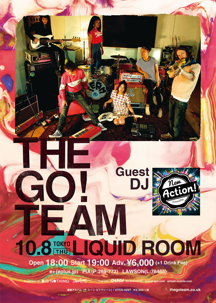 THE GO! TEAM 東京公演 2015.10.08 (Thu) at LIQUID ROOM