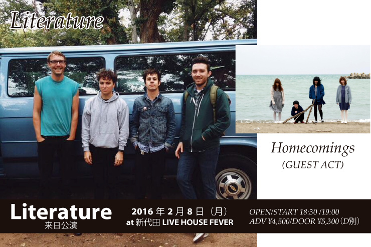 Literature来日公演(ゲスト:Homecomings)2016.02.08(mon) at 新代田LIVE HOUSE FEVER