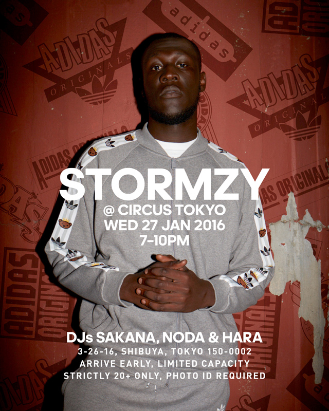 adidas Originals presents STORMZY プレミアムライブ 2016.01.27(wed) at CIRCUS Tokyo