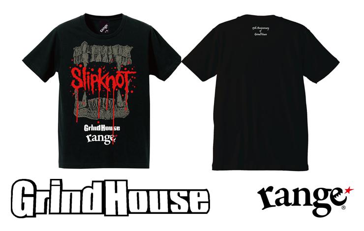 SLIPKNOT×GrindHouse×rangeトリプルネームTシャツ