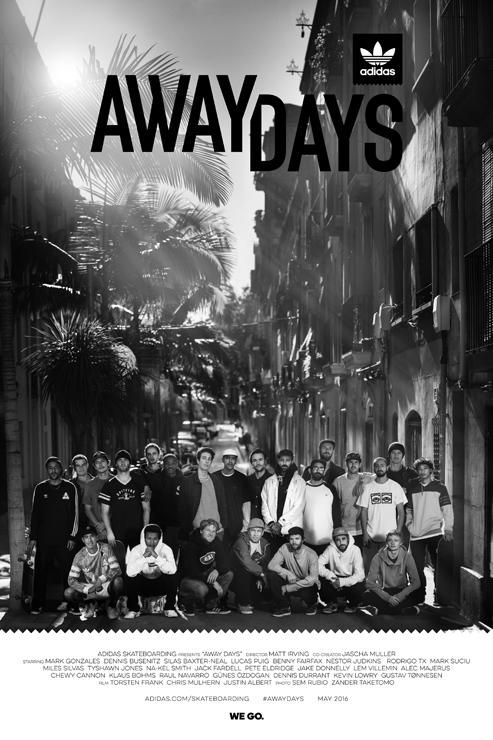 アディダス スケートボーディング初のフルレングスフィルムAway Daysプレミアツアー開催が決定!