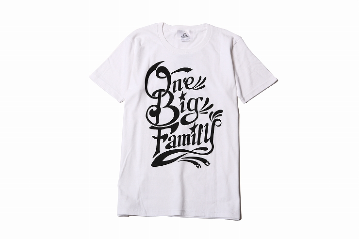 -ONE BIG FAMILY-PROJECT 熊本地震復興支援チャリティTシャツ RUDE GALLERY TOKYOにて2016年6月25日より販売開始。