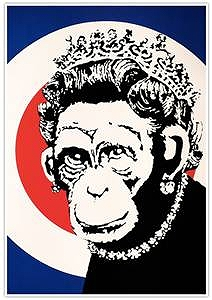 BANKSY MONKEY QUEEN