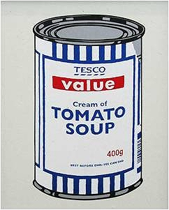 BANKSY SOUP CAN - ORIGINAL COLOUR