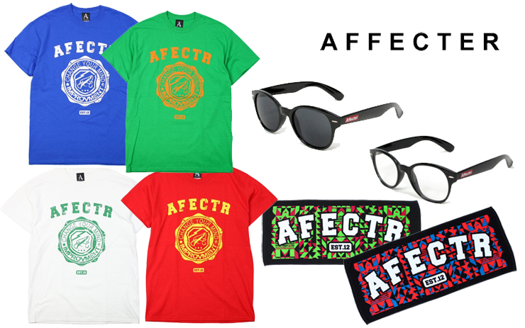 AFFECTER – PICK UP ITEMS (Grunge Crest S/S Tee、AFF GLASS、AFF GM TOWEL)