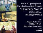 "WWW X Opening Series  Mary Joy Recordings Presents ""Diversity Vol.1"" 2016年9月17日(土) at 渋谷 WWW X"
