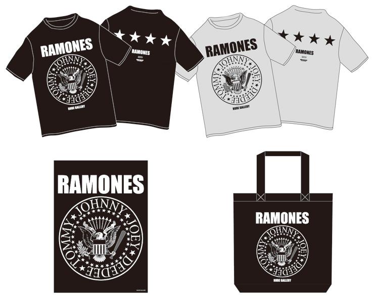 RAMONES 40th アニヴァーサリー RAMONES x RUDE GALLERY コラボレーションアイテムをリリース。