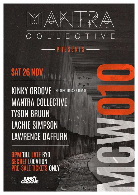 KINKY GROOVEがオーストラリア・シドニーツアーを慣行。Mantra Collective主催パーティーへの出演が決定。