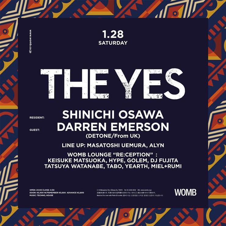 『Darren Emerson japan tour 2017』2017.01.27(fri) at CIRCUS OSAKA,/01.28(sat) at WOMB