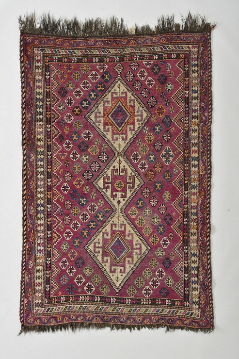 絨毯 西イラン カシュガイ・ルリ族 1920年頃 (C)丸山コレクション