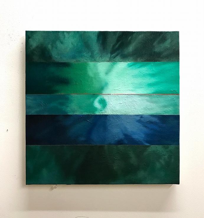 鈴木秀尚 「Japanese eyes」、 oil, enamel on canvas