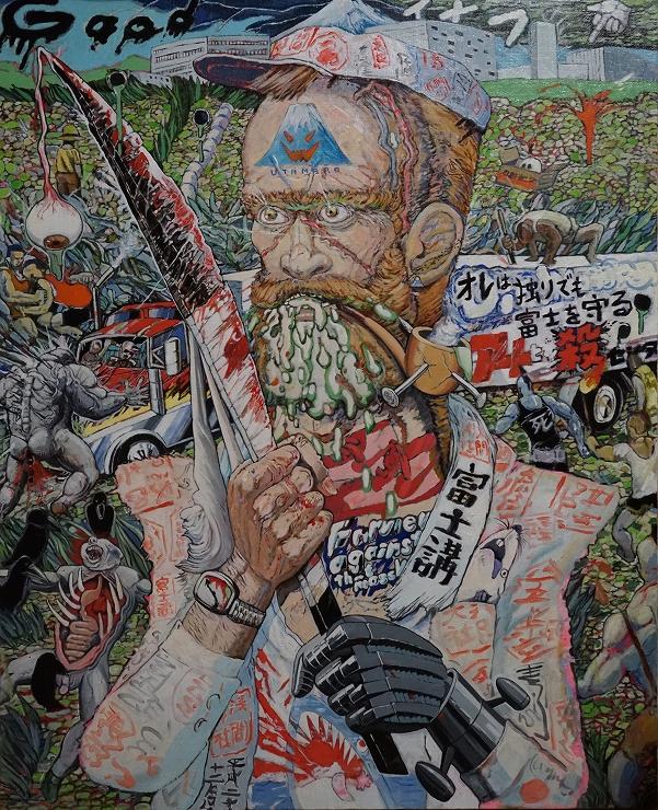榎本耕一「富士山麓の戦士」、 oil on canvas courtesy of TARO NASU