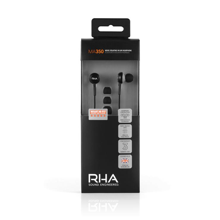 英国グラスゴーのイヤホン専業メーカー【RHA】 エントリー機 『MA350』国内販売開始。
