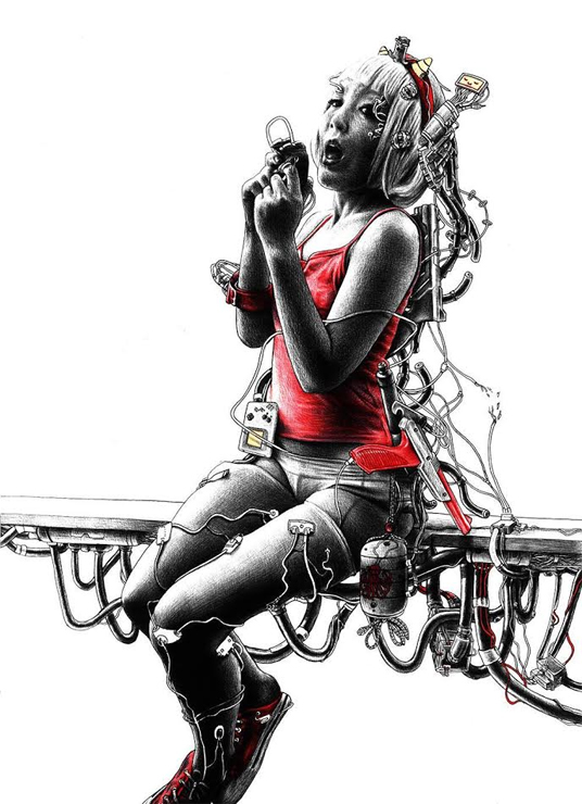 """ボールペンアーティストJAMY VAN ZYL Solo Exhibition """"FUSION"""" 2017.07.17(月)~30(日) at 下北沢レインボー倉庫3F ギャラリースペース"""