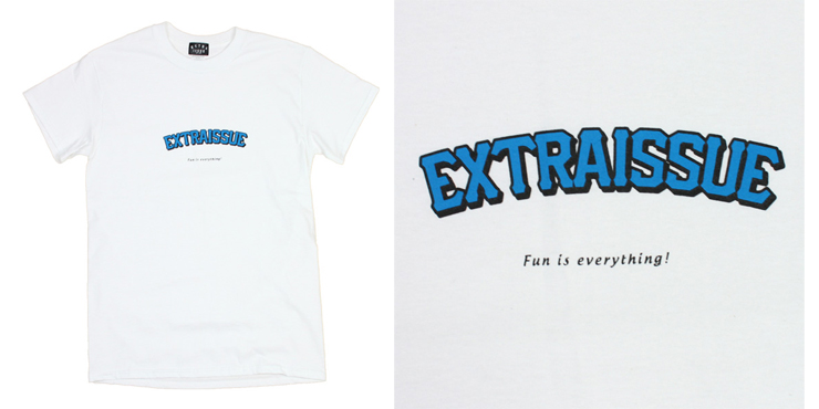 EXTRAISSUE ロゴTシャツ fun is everithing