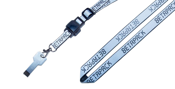 BETAPACK DISCOGRAPHY USB x REFLECTIVE NECK STRAP with MAGNETIC BUCKLE