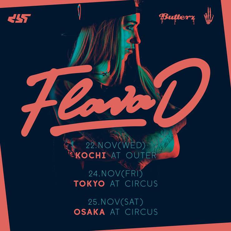 『Flava D (Butterz, UK)  JAPAN TOUR2017』【高知】11.22(水/祝前日)at OUTER/【東京】11.24(金) at CIRCUS TOKYO/【大阪】11.25(土) at CIRCUS OSAKA