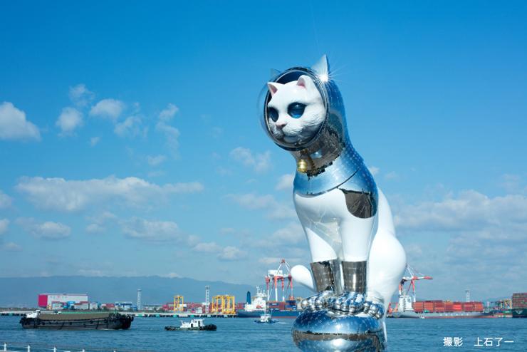 銀座初 現代美術作家・ヤノベケンジ氏の「SHIP'S CAT」が登場