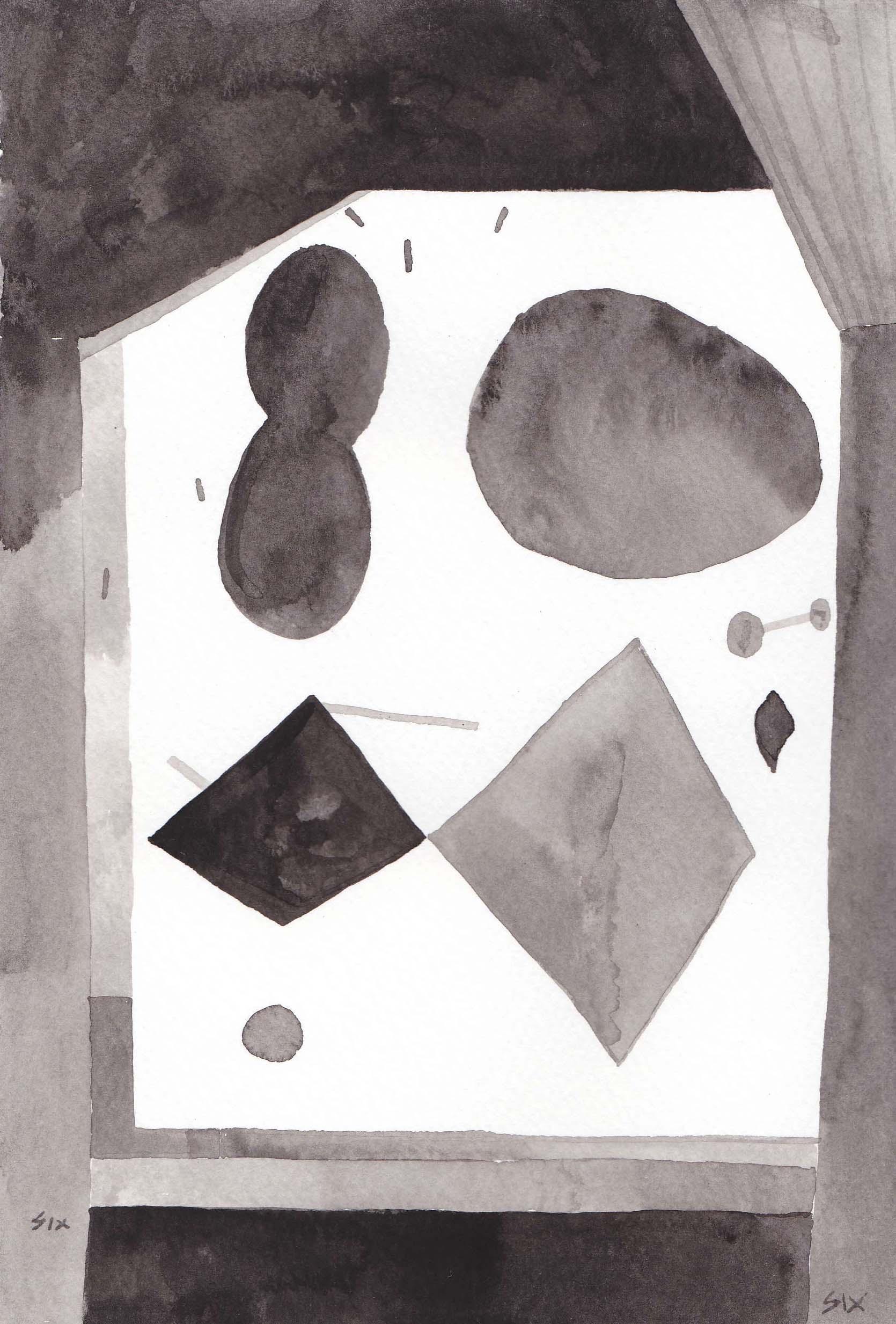 千野 六久 Rokuhisa Chino  (drawing, collage
