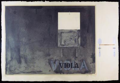 ジャスパー・ジョーンズ, Jasper Johns VIOLA 1971 - 72年 リトグラフ、 額 73.7 x 109.2 cm