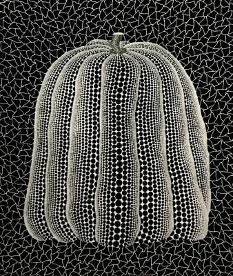 草間彌生 Yayoi Kusama Pumpkin(White T) 1991年 シルクスクリーン、 額 72.3 x 60.4 cm