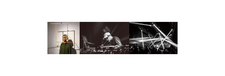 B&C HALLにて金曜日の夜、DJ KRUSHと光の表現のセッション