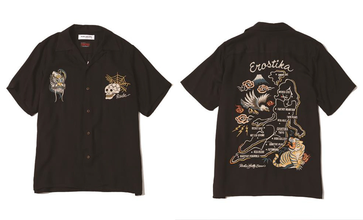EROSTIKA × RUDE GALLERY『SKA SHIRT-NUDE MAP』ART WORK by Rockin'Jelly Bean