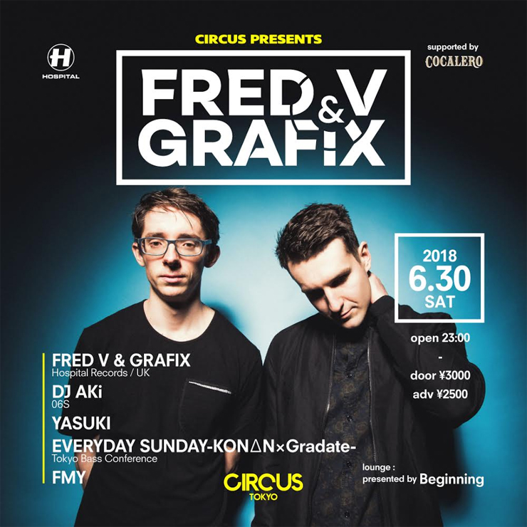 CIRCUS presents Fred V & Grafix  supported by COCALERO
