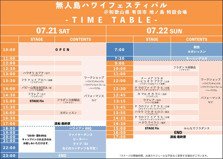 『無人島ハワイフェスティバル』2018年7月21日(土) 22日(日) at 和歌山県有田市初島