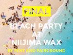 『TENT x Fairground 2018 @ 新島WAX』2018年 8月24日(金)25(土)at 新島WAXビーチラウンジ(和田浜海岸)