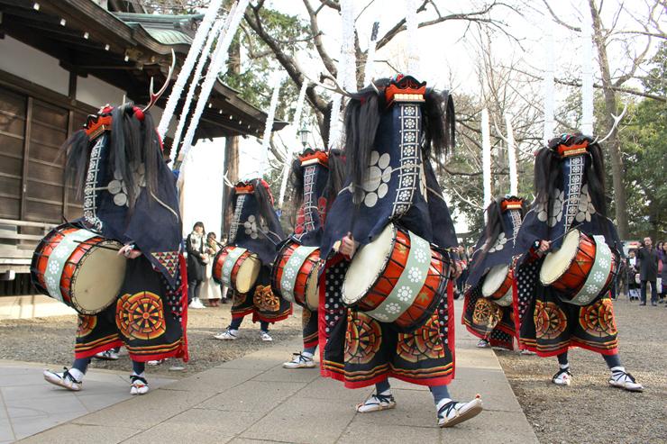日本の民俗芸能〈金津流横浜獅子躍〉